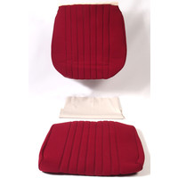 thumb-Satz für Vordersitzbezug Stoff-bezogen rot (1 Farbton): Sitz + Rückenlehne + Abschlussfüllung in weißemTarga 1969 Citroën DS-3