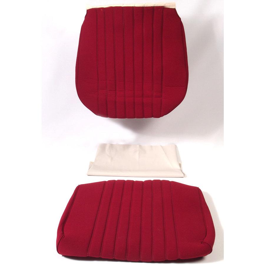 Garniture siège AV en étoffe rouge unie pour assise + dossier Panneau de fermeture en simili blanchâtre Pallas 1969Citroën DS-3