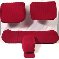 thumb-Sitzbezugsatz für Hinterbank Stoff-bezogen rot (1 Farbton): Sitz 1 Teil Rückenlehne 4 Teile Citroën ID/DS-2