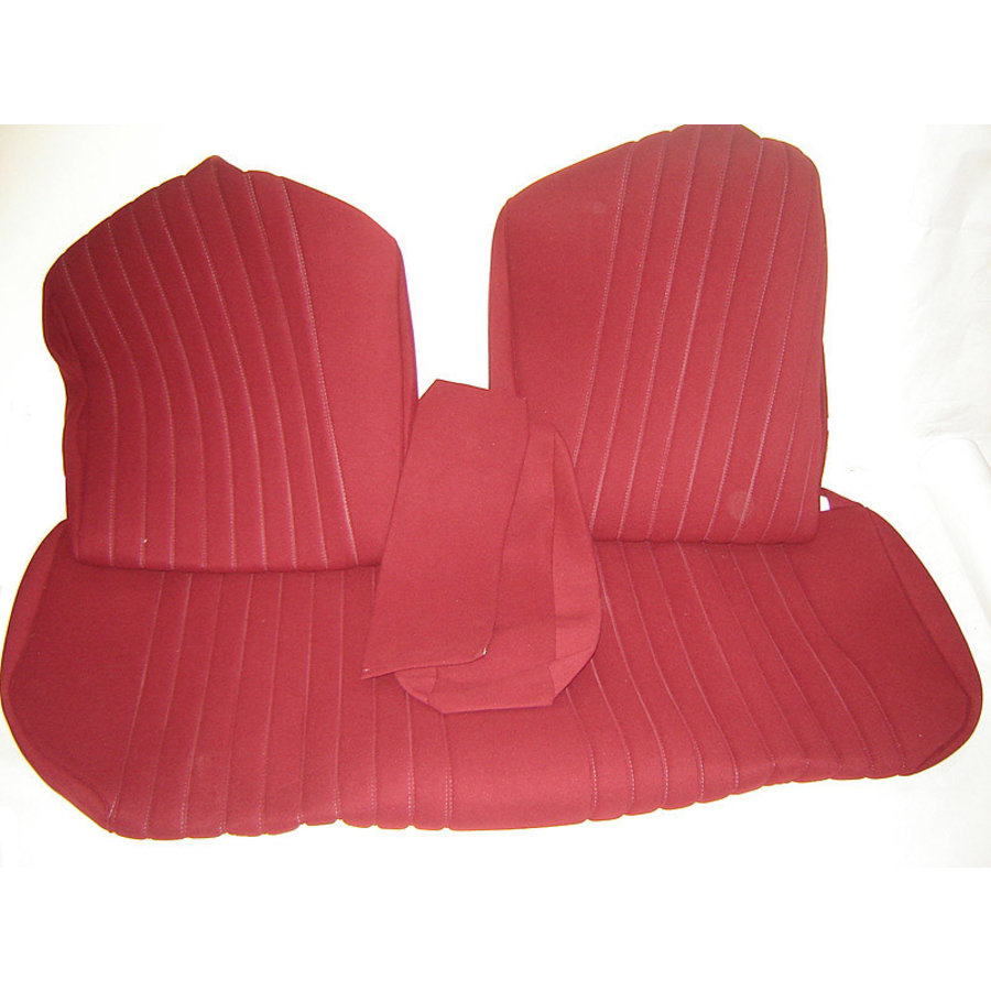 Rear bench cover pallas from from 69 red cloth Citroën ID/DS-3