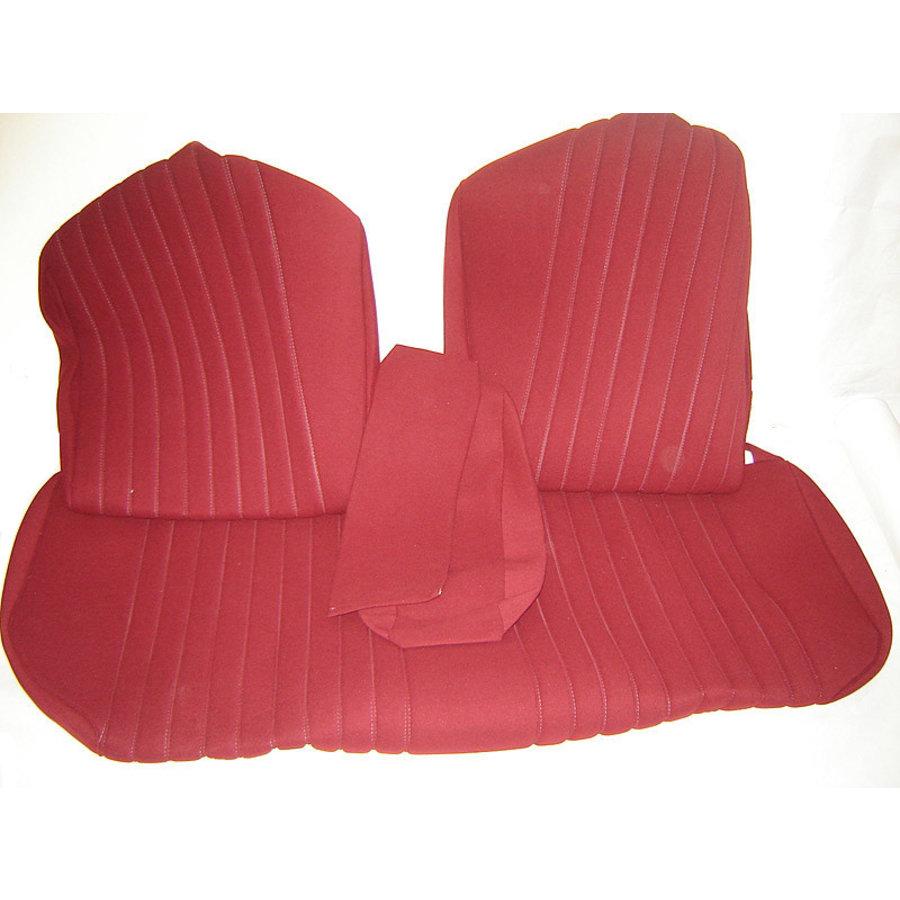 Sitzbezugsatz für Hinterbank Stoff-bezogen rot (1 Farbton): Sitz 1 Teil Rückenlehne 4 Teile Citroën ID/DS-3