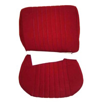 thumb-Cover set red fabric Pallas (WITHOUT WHITE  LEATHERETTE PIECE BEHIND FRONT SEAT) '69 Citroën ID / DS-2