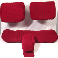 thumb-Cover set red fabric Pallas (WITHOUT WHITE  LEATHERETTE PIECE BEHIND FRONT SEAT) '69 Citroën ID / DS-4