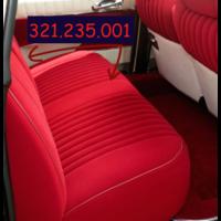 """thumb-Garniture complète (2 sièges AV + 1 banquette AR) en étoffe rouge uni(SANS PIECE DE SKAI BLANC POUR L""""ARRIERE DU DOSSIER)Citroën ID/DS-5"""