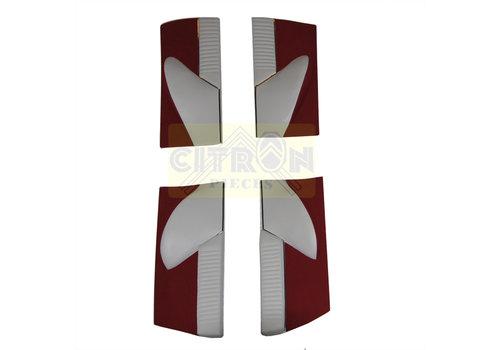Jogo de painéis para portas revestimento em tecido vermelho [4] (réplica do painel Pallas) Citroën ID/DS
