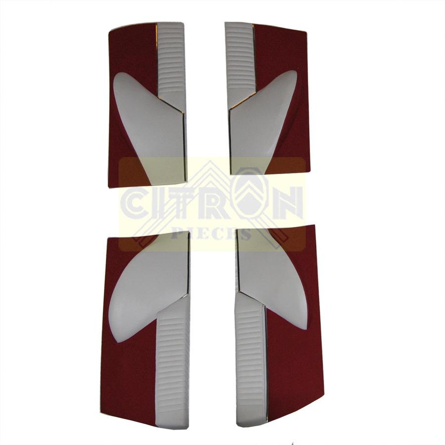 Jeu de panneaux de porte garniture en étoffe rouge [4](réplique du panneau PA) Citroën ID/DS-1