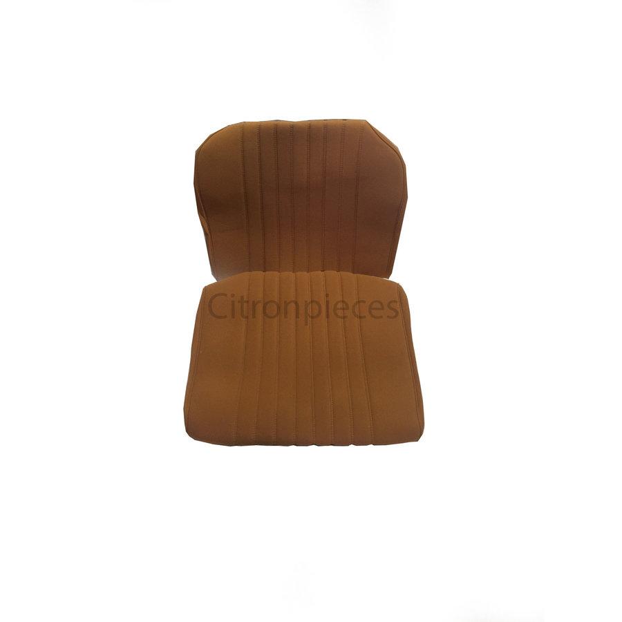 Satz für Vordersitzbezug Stoff-bezogen ocker (1 Farbton): Sitz + Rückenlehne + Abschlussfüllung in weissemTarga Citroën ID/DS-1
