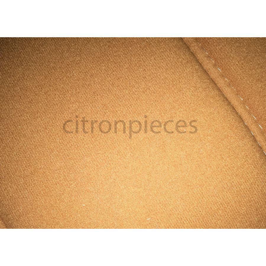 Satz für Vordersitzbezug Stoff-bezogen ocker (1 Farbton): Sitz + Rückenlehne + Abschlussfüllung in weissemTarga Citroën ID/DS-2