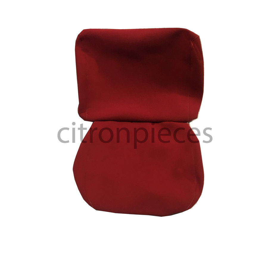 Front seat cover old model bright red cloth Citroën ID/DS,  till 9/68-3