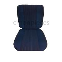 thumb-Sitzbezugsatz für Pallas Vordersitz Stoff-bezogen blau (Mittelteil mit Bahnen): Sitz + Rückenlehne + Abschlussfüllung in weißemTarga Citroën ID/DS-1
