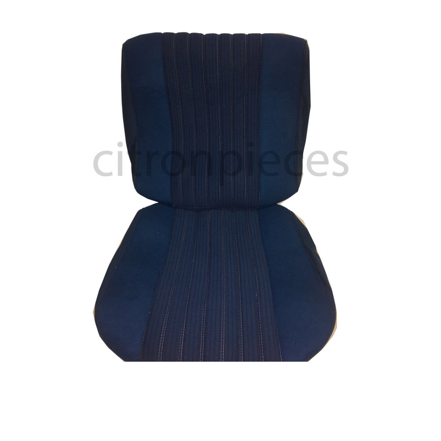 Garniture siège AV PA en étoffe bleu (partie centrale en deux tons) pour assise + dossier Panneau de fermeture en simili blanchâtre Citroën ID/DS-1