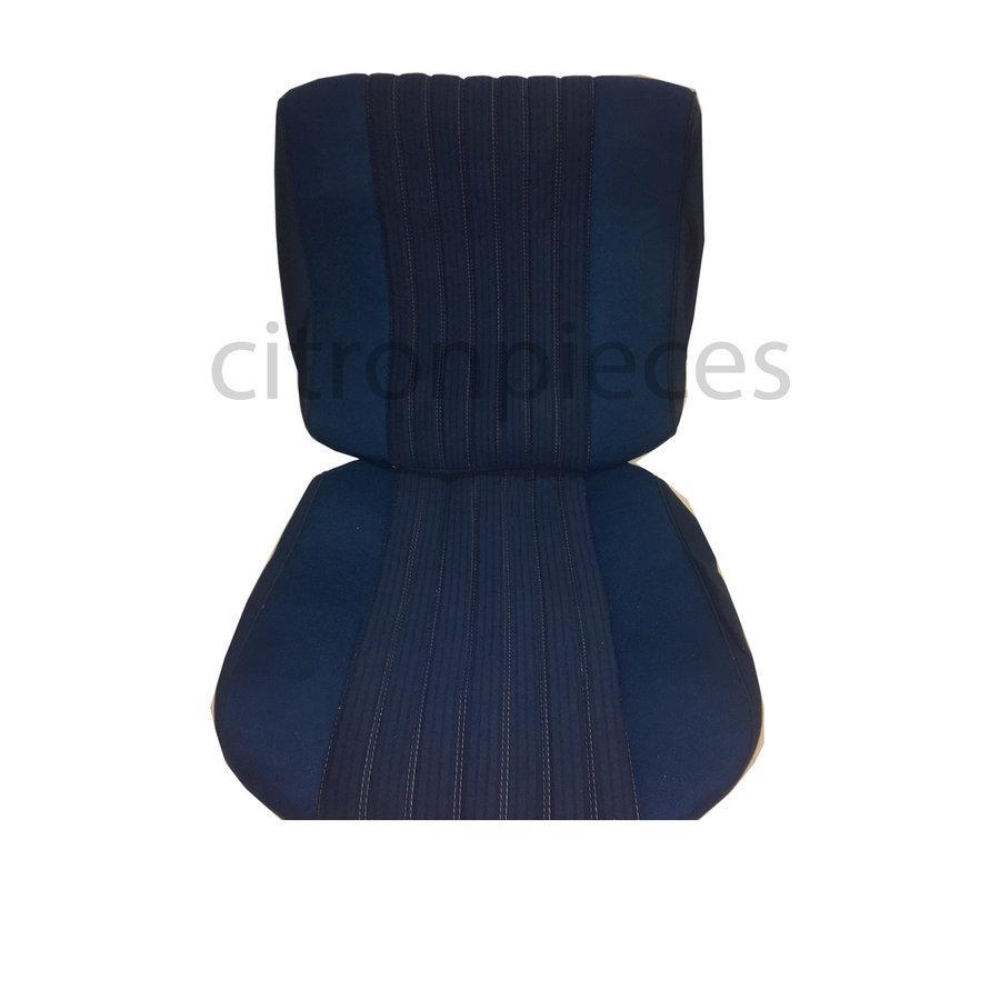 Sitzbezugsatz für Pallas Vordersitz Stoff-bezogen blau (Mittelteil mit Bahnen): Sitz + Rückenlehne + Abschlussfüllung in weißemTarga Citroën ID/DS-1