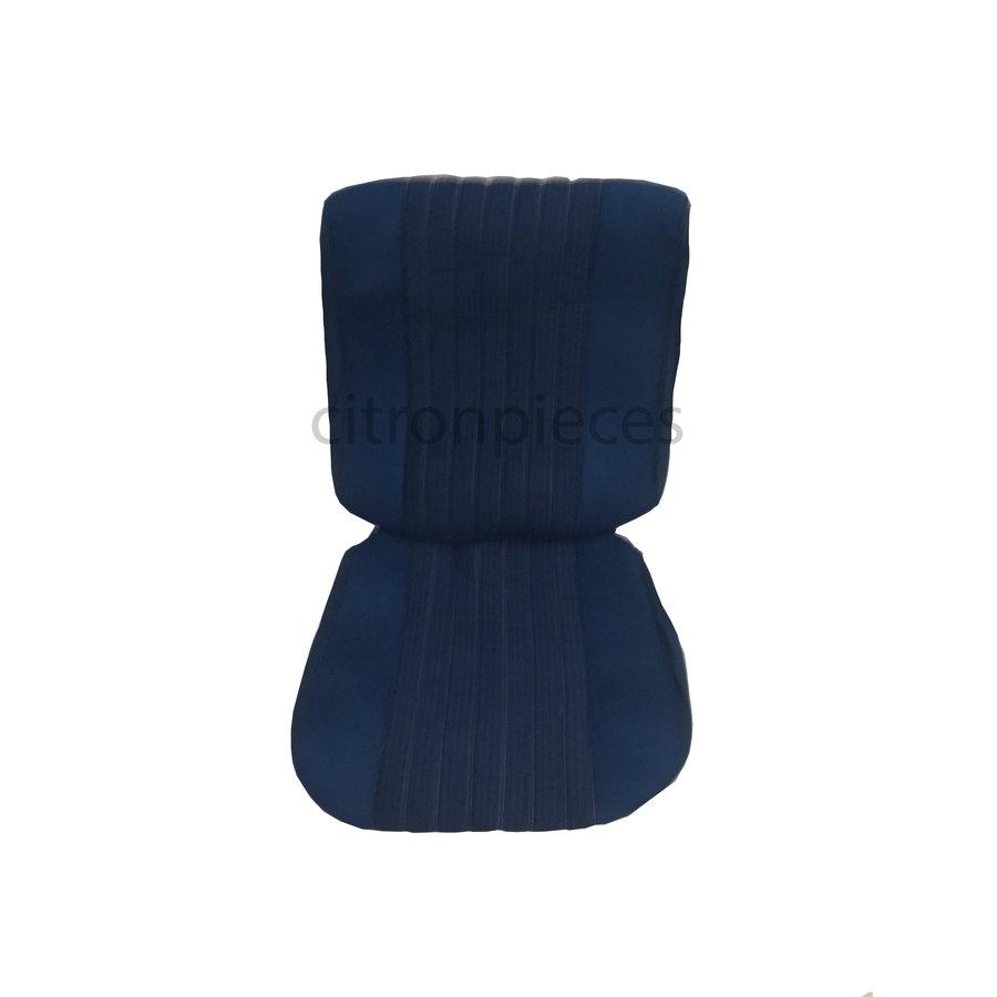 Sitzbezugsatz für Pallas Vordersitz Stoff-bezogen blau (Mittelteil mit Bahnen): Sitz + Rückenlehne + Abschlussfüllung in weißemTarga Citroën ID/DS-2