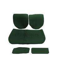 Garniture pour banquette AR en étoffe vert unie pour assise 1 pièce dossier 4 pièces imprimé gauffre Citroën ID/DS