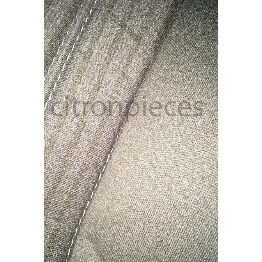 Garniture pour banquette AR PA en étoffe gris (partie centrale en deux tons) pour assise 1 pièce dossier 4 pièces Citroën ID/DS-1