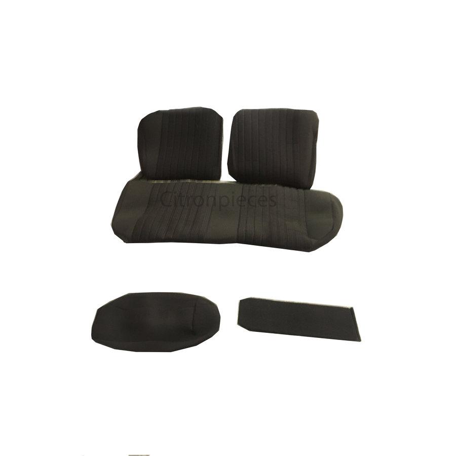 Garniture pour banquette AR PA en étoffe gris (partie centrale en deux tons) pour assise 1 pièce dossier 4 pièces Citroën ID/DS-2