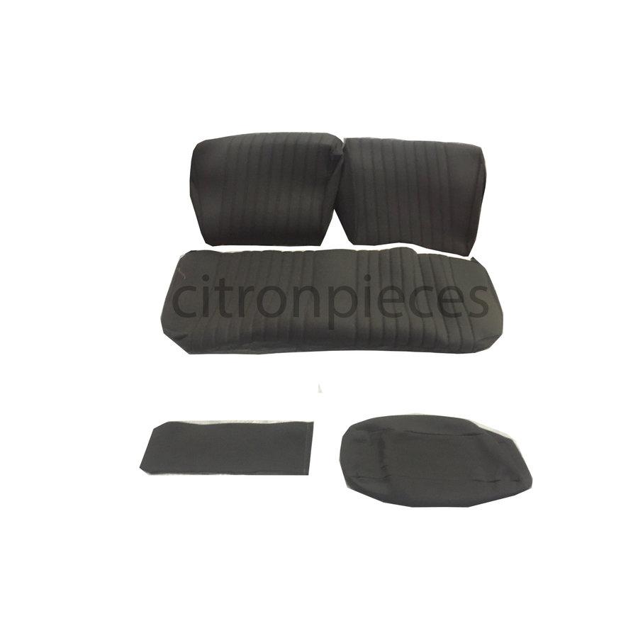 Garniture pour banquette AR en étoffe gris unie pour assise 1 pièce dossier 4 pièces Citroën ID/DS-1