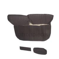 thumb-Garniture pour banquette AR en étoffe gris unie pour assise 1 pièce dossier 4 pièces Citroën ID/DS-2