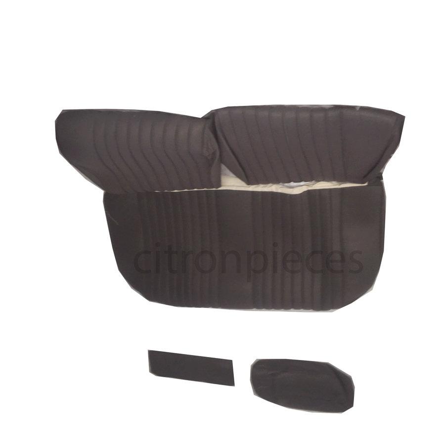 Garniture pour banquette AR en étoffe gris unie pour assise 1 pièce dossier 4 pièces Citroën ID/DS-2