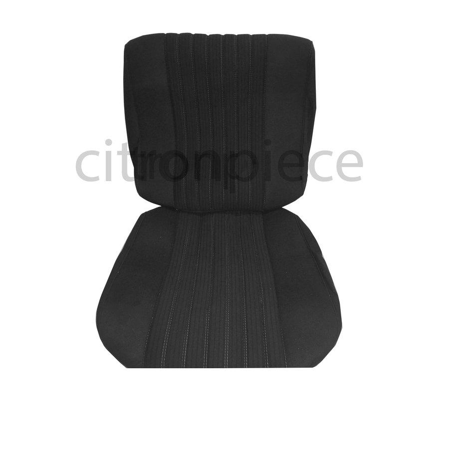 Sitzbezugsatz für Pallas Vordersitz Stoff-bezogen grau (Mittelteil mit Bahnen): Sitz + Rückenlehne + Abschlussfüllung in weißemTarga Citroën ID/DS-1