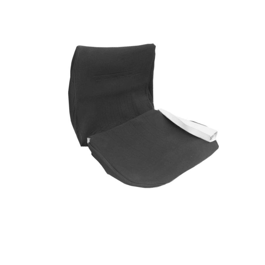Garniture siège AV en étoffe gris unie pour assise + dossier Panneau de fermeture en simili blanchâtre imprimé gauffre Citroën ID/DS-2