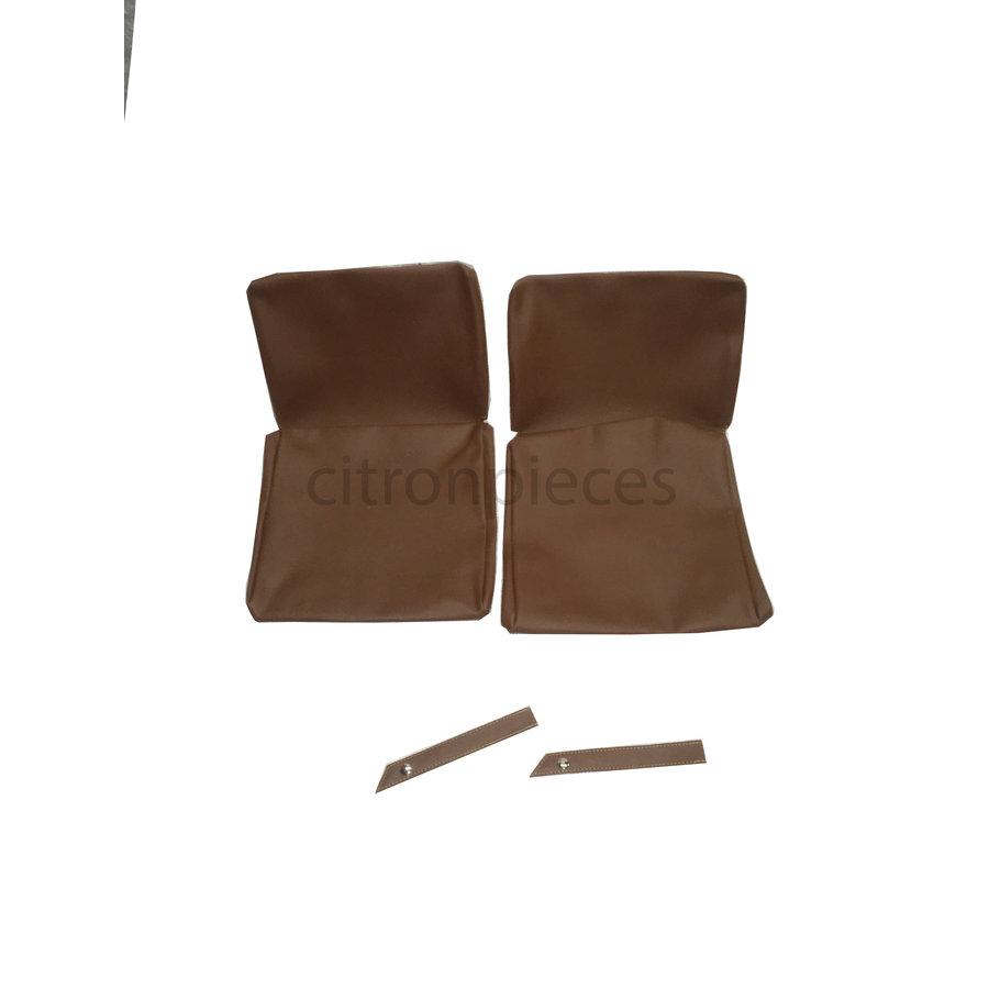 Garniture origine pour strapontins de BK (jeu pour deux strapontins) simili marron Citroën ID/DS-1