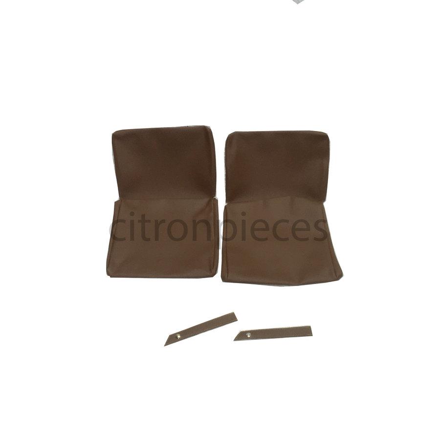 Garniture origine pour strapontins de BK (jeu pour deux strapontins) simili marron Citroën ID/DS-2