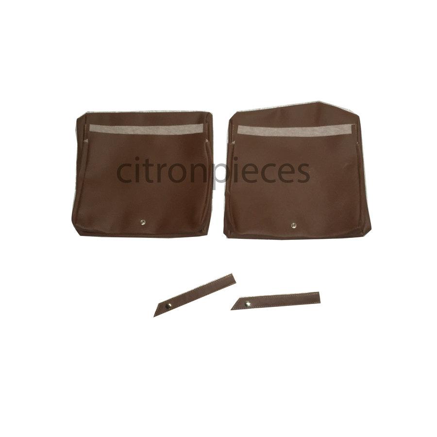Garniture origine pour strapontins de BK (jeu pour deux strapontins) simili marron Citroën ID/DS-3