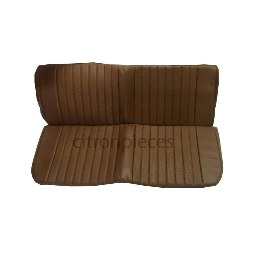 Garniture origine banquette AR BK simili marron (assise 1 pièce dossier 1 pièce) Citroën ID/DS-1