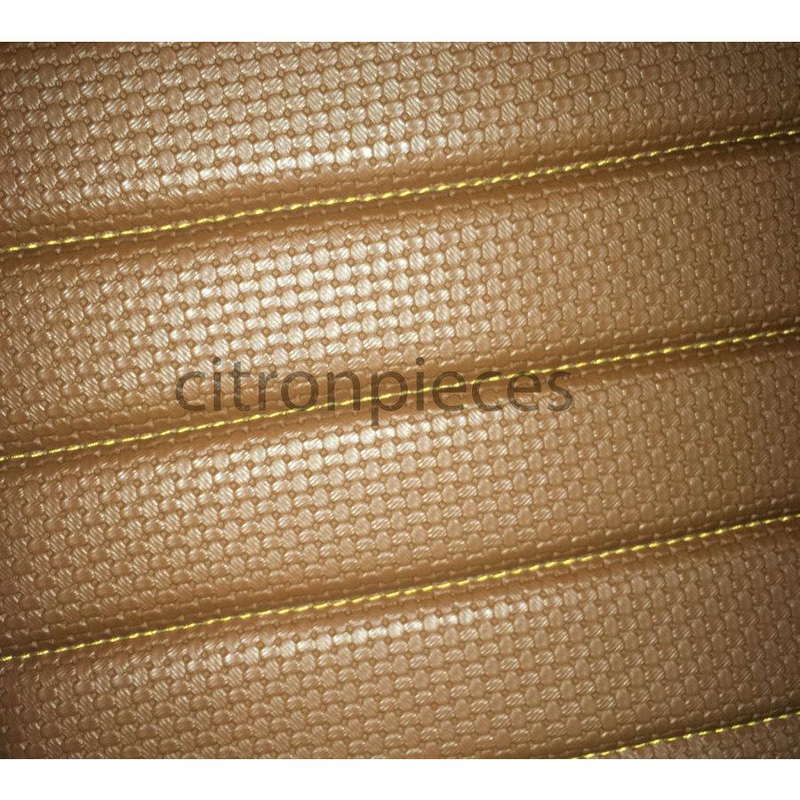 Garniture origine banquette AR BK (en 2 pièces) simili marron (assise 2 pièces dossier 2 pièces) Citroën ID/DS-1