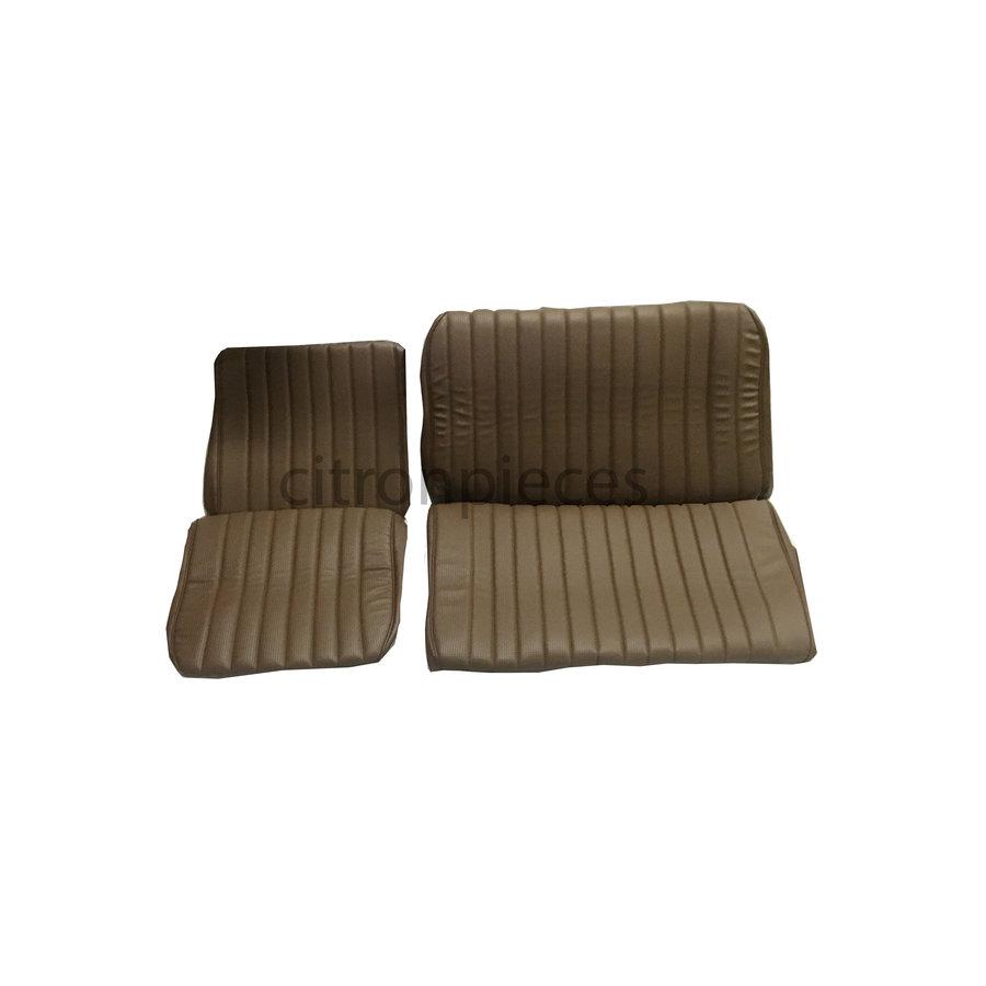Garniture origine banquette AR BK (en 2 pièces) simili marron (assise 2 pièces dossier 2 pièces) Citroën ID/DS-2