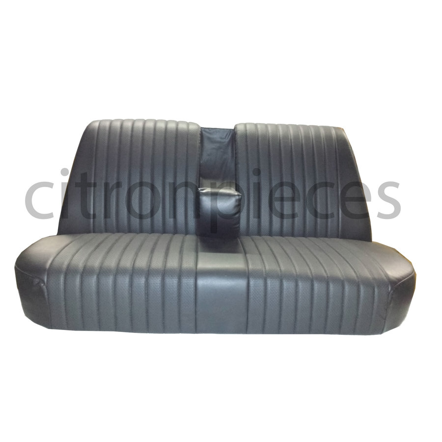Rear bench newly trimmed in black leatherette Citroën ID/DS-4