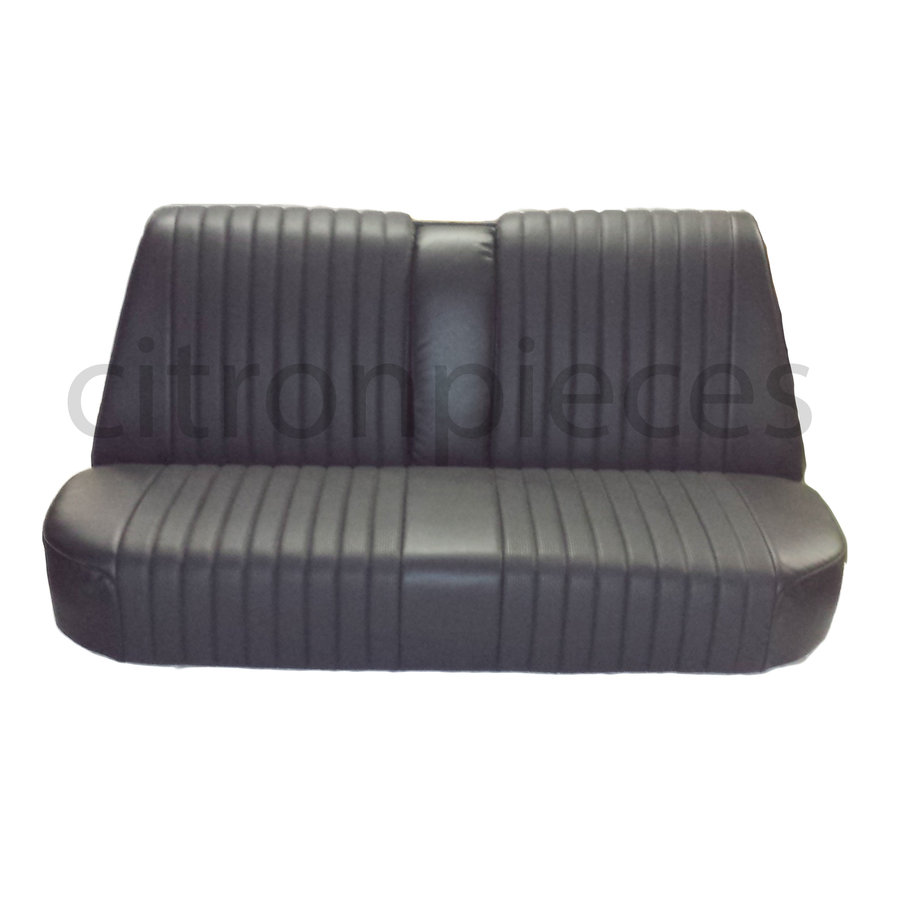Rear bench newly trimmed in black leatherette Citroën ID/DS-1