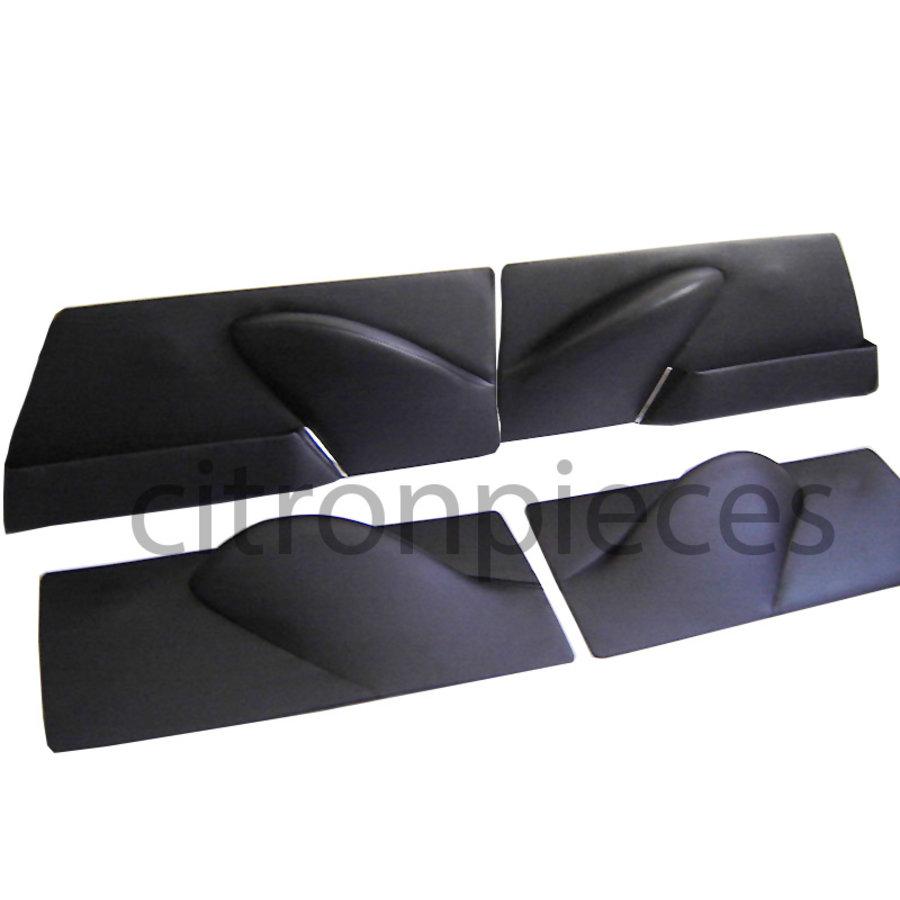 Door card set (not flat) black leatherette Citroën ID/DS-1