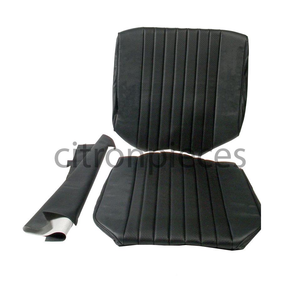 Original Sitzbezug Satz für Vordersitz Targa-bezogen schwarz (Sitz Rückenlehne Abschlussfüllung für Schaum-Rücken) Citroën ID/DS-1
