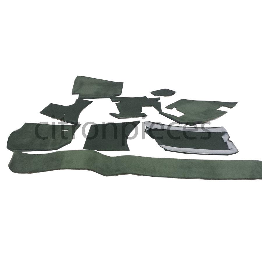 Vollständiger Bodenbezug Satz grün (mechanisch/hydraulisch/mit Einspritzung) mit Schaum Citroën ID/DS-3