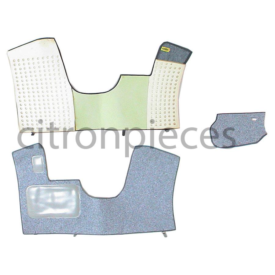 Bodenmatte vorne grau Originalreplikat (nicht Pallasdraulisch) mit Bezug für Pedalboden mit Schaum Citroën ID/DS-1