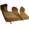 ID/DS Bodenmatte vorne braun Originalreplikat (Pallas) mit Bezug für Pedalboden ohne Schaum Citroën ID/DS