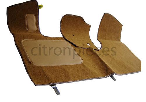 ID/DS Tapis AV marron production origine (PA) garniture de plancher de pédale inclus sans mousse Citroën ID/DS