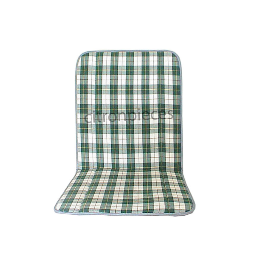 Original seat cover set for seat in green cloth (Exact Copie of the Original Scottish Design) years '50 '60 Citroën 2CV-2