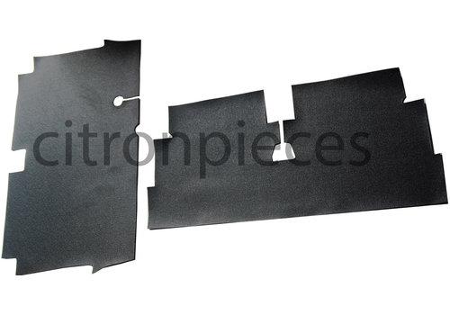 Flurmattensatz vorne + hinten (Plastik mit 5 mm Filz) Dyane Citroën 2CV