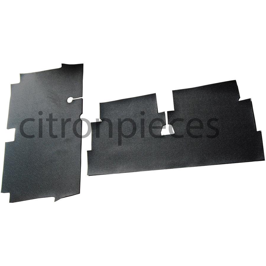 Floor mat set front + rear (vynil + 5 mm sound proofing) Dyane Citroën 2CV-1