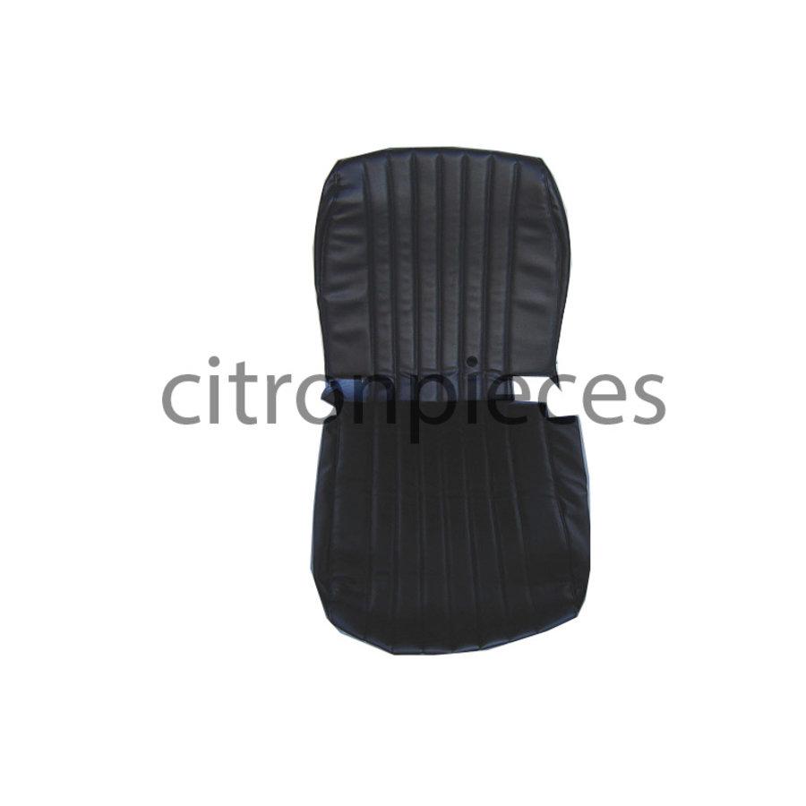 Housse d'origine en simili noir pour siège AV MEHARI Citroën 2CV-1