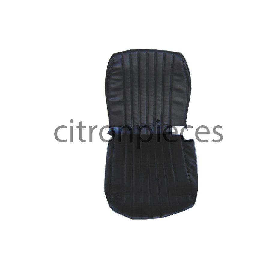 Original seat cover for front seat in black leatherette Mehari Citroën 2CV-1
