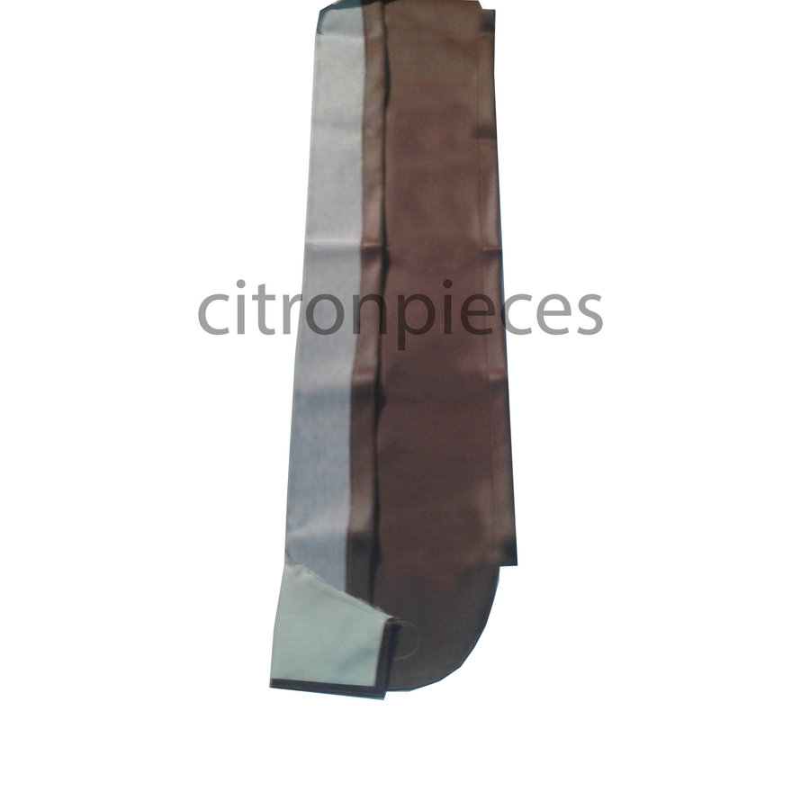 Trimming for rear window shelf brown leatherette Citroën 2CV-3