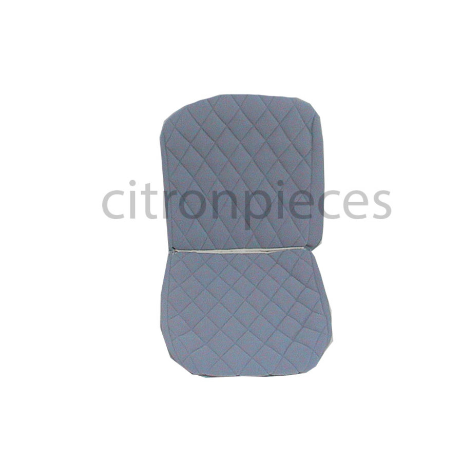Original seat cover set for front R seat (2 round angles) in gray cloth Charleston Citroën 2CV-1