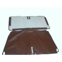 thumb-Original seat cover set in brown leatherette for foldable rear bench Dyane Citroën 2CV - Copy-1