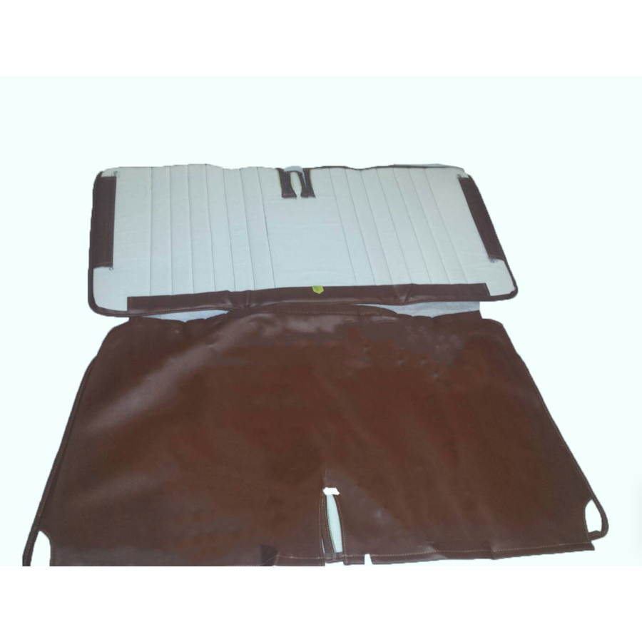 Original seat cover set in brown leatherette for foldable rear bench Dyane Citroën 2CV - Copy-1