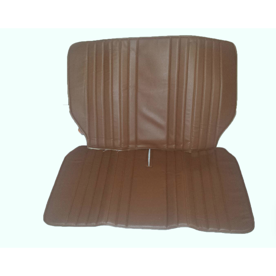 Original seat cover set in brown leatherette for foldable rear bench Dyane Citroën 2CV - Copy-2
