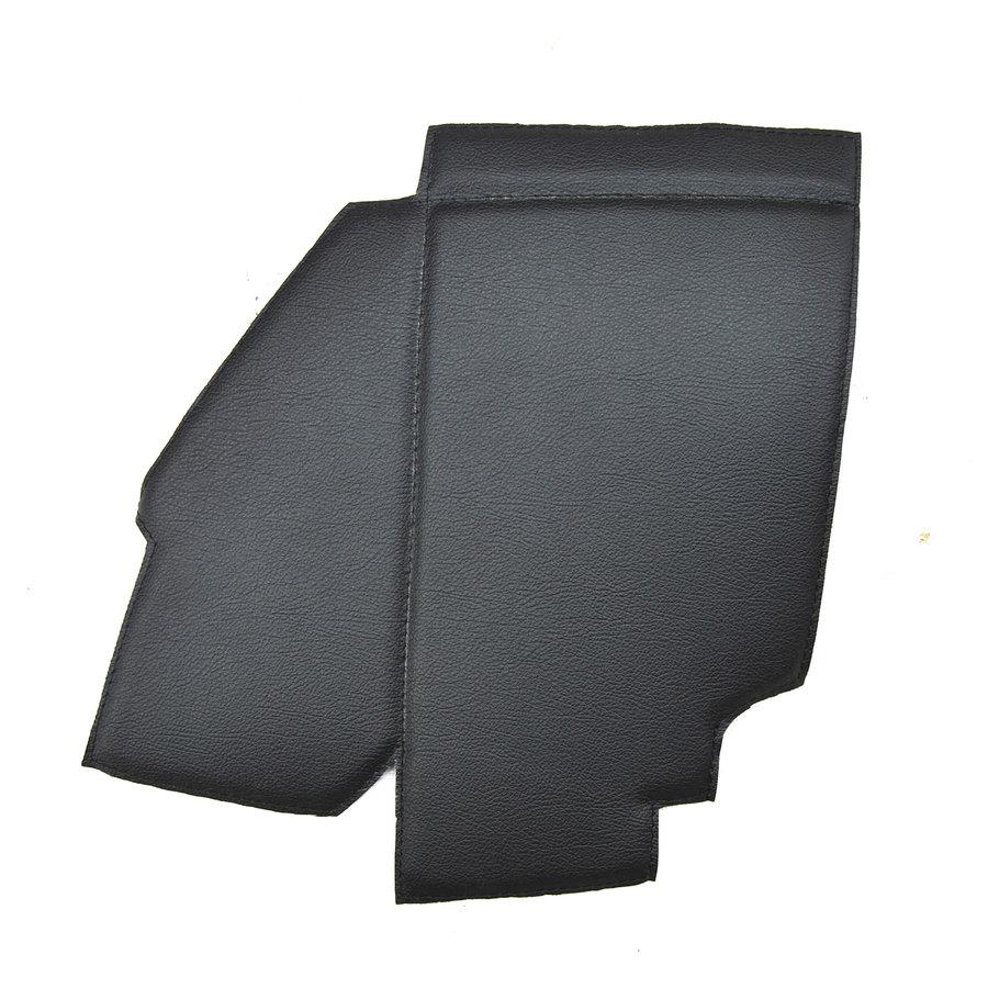 Bekleding schutbord, gelijkend materiaal, verbeterde pasvorm voor Citroen 2CV zwart  (6 delige set)  1976- eind-4